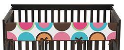 Sweet Jojo Designs Modern Deco Dot Long Front Rail Guard Bab