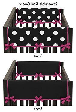 Sweet Jojo Designs Modern Pink and Black Polka Dot Teething