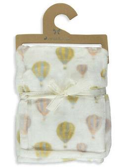Mon Lapin Velvet Hot Air Balloon Baby Blanket