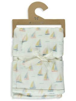 Mon Lapin Velvet Sailboat Baby Blanket