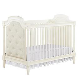 Monbebe Corrine Upholstered 2-in-1 Convertible Crib - French