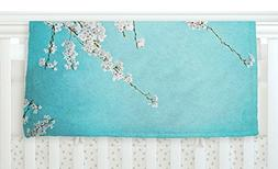 "KESS InHouse Monika Strigel ""Hanami"" Teal White, 30"" x 40"" F"