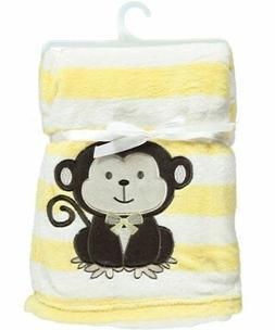 """Snugly Baby """"Monkey Love"""" Ultra Soft Plush Blanket"""