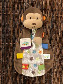 Taggies Monkey Rattle Toy Security Blanket Lovey