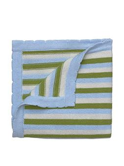 Elegant Baby Monkey Stripe Blanket, Multi