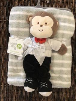 Baby Gear Monkey Tuxedo Tux Striped Stripe Baby Blanket Plus