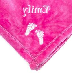 PERSONALIZED Monogrammed Embroidered BABY FEET Tahoe Fleece