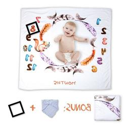 Monthly Baby Milestone Blanket Backdrop for Photography - Ba