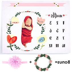 CAVN Baby Monthly Milestone Blanket Photography Props Backdr