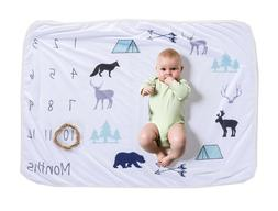 monthly baby milestone polar fleece blanket 1
