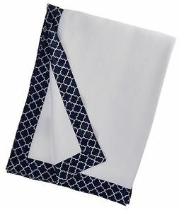 BreathableBaby Moroccan Design Modal Blanket, Navy