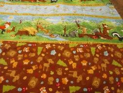 Multicolored Woodland Animal Double-sided Cotton/Flannel Bab