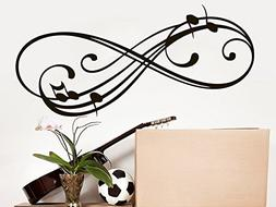 Music Note Wall Decal Infinity Sign Vinyl Sticker Musical No