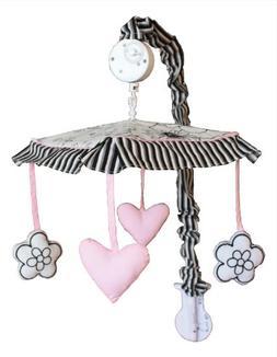 Musical Mobile for Black White Pink Baby Bedding Set