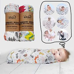 Muslin Baby Swaddle Blankets - for Newborn Infant Toddler -