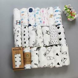 Muslin Blanket 100% Cotton Baby Swaddles 120*120cm Soft Newb