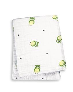 Lulujo Baby Muslin Cotton Swaddling Blanket, Owl Always Love
