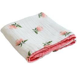 "LifeTree Muslin Toddlers Blanket for Baby Girls -""Floral Pri"