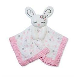 lulujo Baby Muslin Lovies Toy, Pink Bunny