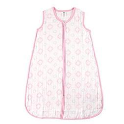 Hudson Baby Muslin Sleeping Bag, Pink Damask, 18-24 Months