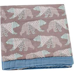 LifeTree Muslin Toddler Blankets for Boys or Girls - 2 Layer