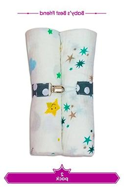 Newborn Baby Toddler 2 Pack Swaddle Blanket 100% Cotton Ultr