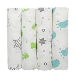 Muslin Swaddle Blanket,iHome&iLife 47 x 47 Inch Baby Wrap So