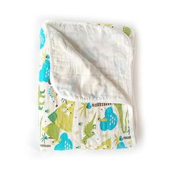 """Baby 2-Layer Muslin Swaddle Blanket, 39""""x59"""" 100% Cotton Sof"""