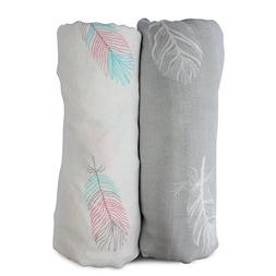 Muslin Swaddle Blankets Large Size-Super Soft Breathable Bam