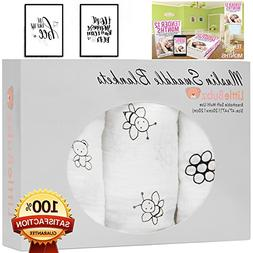 Muslin Swaddle Blankets, Cotton Baby Receiving Blanket,  by