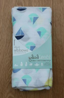 MUSLIN SWADDLE BLANKETS : ADEN & ANAIS BABY BOY SAILBOAT MUS