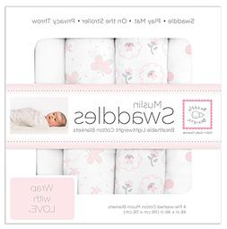 SwaddleDesigns Muslin Swaddle Blankets Classic Collection