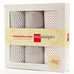 Virginia Kate Organic Muslin Cotton Large Swaddle Baby Blank