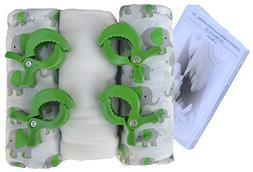 "MUSLIN SWADDLE Blankets ORGANIC BAMBOO Baby Gift Set 47x47"""