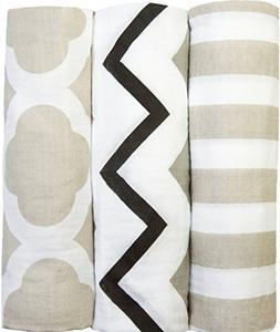 """Ry Ry Bliss - Muslin Swaddle Blankets - 3 PACK - Large 47""""x"""