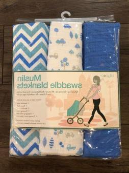 muslin swaddle blankets set of 3 boys