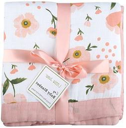 "Muslin Toddler Blanket -""Floral Print"" Bamboo Everything Bla"