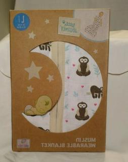 Little Journey Muslin Wearable Blanket Sloth Print Sleepsack