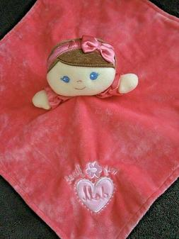 Baby Starters My First Doll Pink Girls Satin Security Blanke