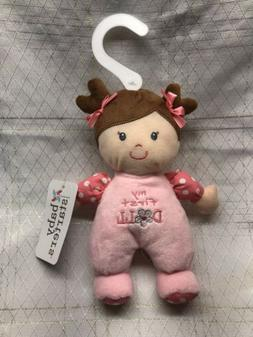 BABY STARTERS MY FIRST  Girl DOLL Plush Baby toy RATTLE 9""