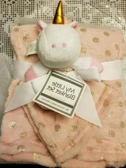 My Little Blanket Baby Security Set Infant Unicorn Pink Girl