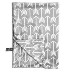 "Kids N Such Minky Baby Blanket 30"" x 40"" - Grey Arrow - Soft"