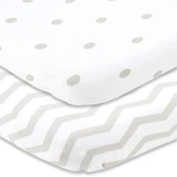 Cuddly Cubs Pack n Play Sheets   2 Pack Playard Sheet for Ba