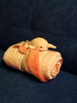 Cloud Island Narwhal Pink Baby Crib blanket nautical Fish Ne
