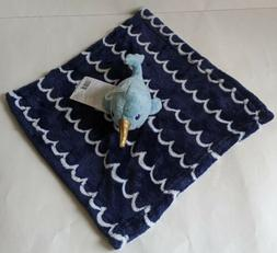 Hudson Baby Nautical Blue NarwhalWhale Plush Lovey Securit