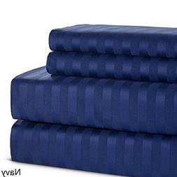Navy Blue King Size  Luxuries 100% Egyptian Cotton Bedding S