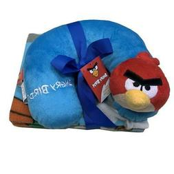 "Angry Birds Neck Travel Pillow & Plush Throw Blanket 40"" x 5"