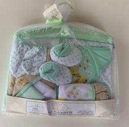 New 10 Piece Unisex Blanket Gift Set in Green Yellow by Snug