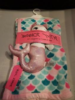 NEW Betsey Johnson 2 Piece Baby Blanket and Snuggle Mermaid