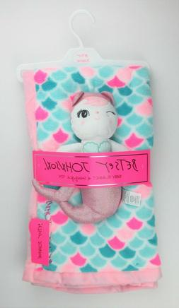 NEW Betsey Johnson 2-Piece Baby Blanket and Snuggle Mermaid